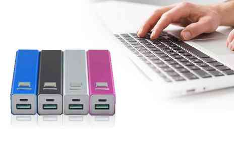 EF Mall - 2600mAh Power Bank portable USB charger choose from four colours - Save 38%