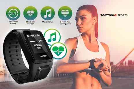 Deals Direct - Black TomTom Spark Cardio & Music fitness tracker - Save 61%
