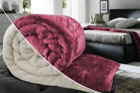 Fusion Homeware - Single, double or king luxury super soft faux mink blanket - Save 80%