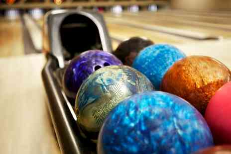 Namco - One Game of Bowling For Up To Four People with Pizza or Drink - Save 50%