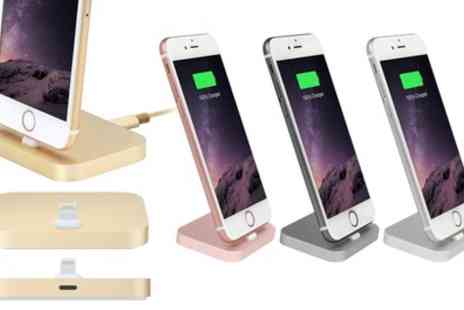 Groupon Goods Global GmbH - Aluminium Charging Dock for iPhone with Optional Braided Cable - Save 53%
