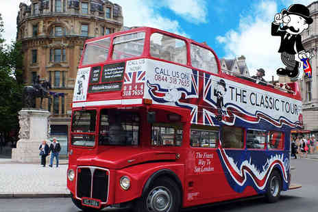 The Classic Tour - Childs ticket or adult ticket for the open top Classic Tour of London - Save 42%
