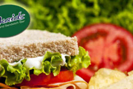 Mikaids Coffee & Sandwich Bar - Lunch for 2 inc. a sandwich, cake & hot drink each - Save 57%