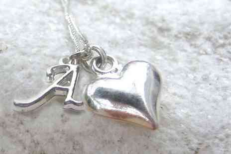 Aye Do - Initial necklace choose from heart or star - Save 50%
