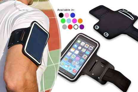 Planet of Accessories - Sports armband iPhone holder choose from 10 colours - Save 73%