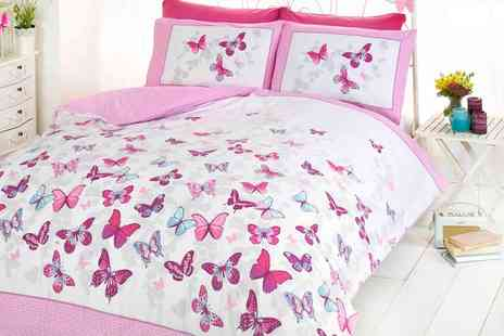 Groupon Goods Global GmbH - Reversible Flutter Duvet Sets - Save 0%