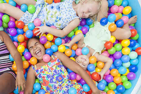 Clown Around - Three hours of soft play for two adults and two kids with sandwiches, drinks and a snack for each child - Save 55%