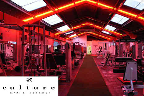 Culture Gym and Kitchen - One month gym access - Save 84%