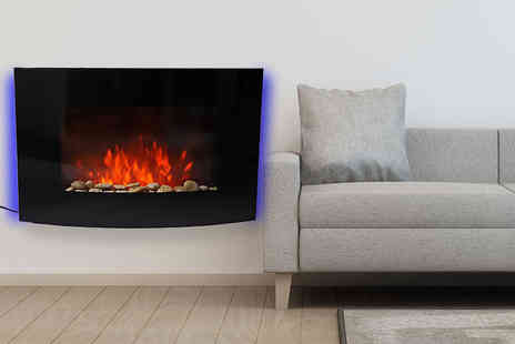 MHStar Uk - 1800w luxury curved electric fireplace, with a limited number available - Save 70%
