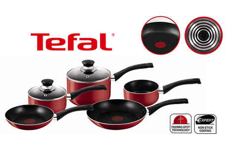 Elite Housewares - Five piece Tefal non stick cookware set - Save 66%