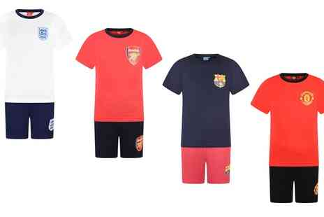 Groupon Goods Global GmbH - Boys Shortie Football Club Pyjamas - Save 0%