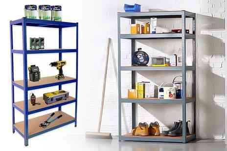 Ricomex - 1.5 metre heavy duty steel Five tier storage shelves or for a 1.8 metre unit - Save 87%
