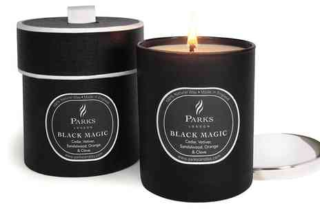 Groupon Goods Global GmbH - Parks Gift Boxed Black Magic with Silver Lid Candles - Save 82%