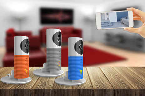 Partikle - Smartphone controlled CCTV camera choose from grey, blue and orange - Save 80%