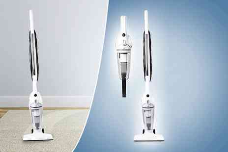 Groundlevel - 2 in 1 upright and handheld white vacuum - Save 63%
