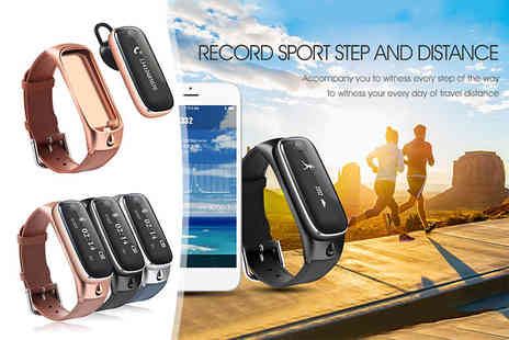Toy Meets World - Two in one Bluetooth fitness tracker and headset - Save 90%