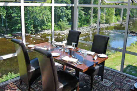 Craig y Dderwen Riverside  - Gourmet Dining for Two - Save 0%