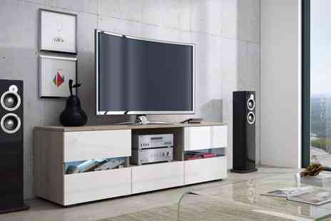 Groupon Goods Global GmbH - Miami TV Cabinet with Led Lighting Include Free Delivery - Save 55%