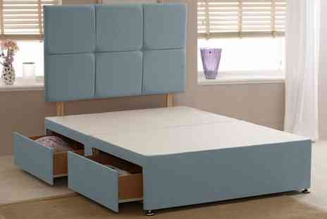 Groupon Goods Global GmbH - Belvedere Sky Divan Base in Linen Fabric With Free Delivery - Save 62%