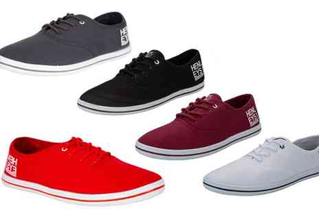 Groupon Goods Global GmbH - Mens Henleys Troy Canvas Plimsolls - Save 77%