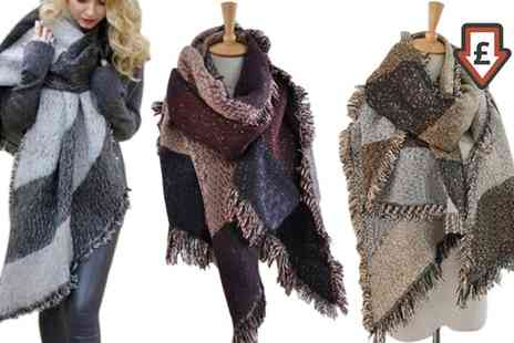 Groupon Goods Global GmbH - One or Two Oversized Fashion Scarves - Save 73%