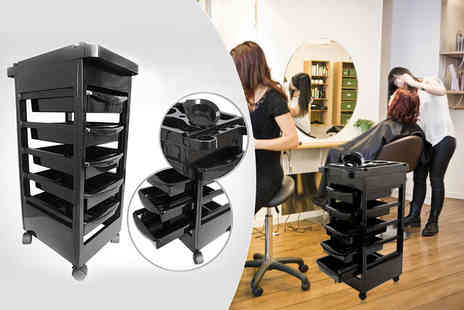 Deals Direct - Five drawer salon storage trolley - Save 78%
