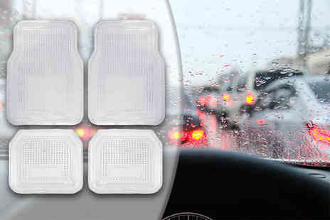 ViVo Technologies - Four clear vinyl car mats - Save 59%