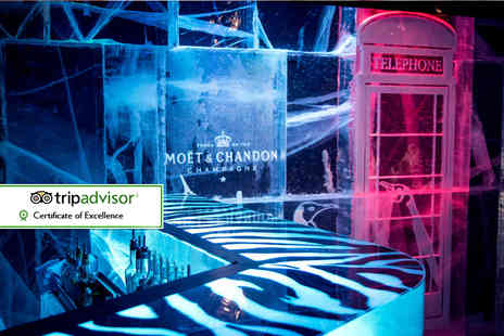 ICEBAR LONDON - Bar entry, three course meal and cocktail or glass of Moet upon arrival for one person - Save 38%