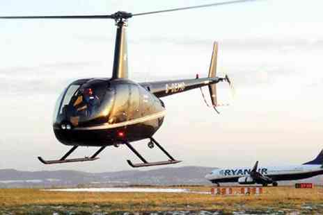 Helicentre - Private helicopter flight for two with a bottle of Prosecco and chocolates - Save 30%
