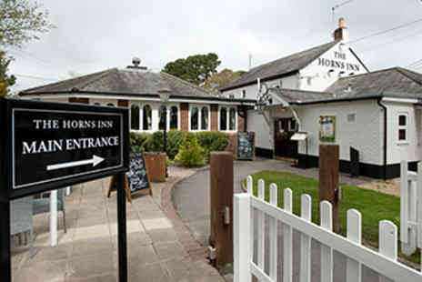 The Horns Inn - Two Course Pub Meal and Drink for Two - Save 0%
