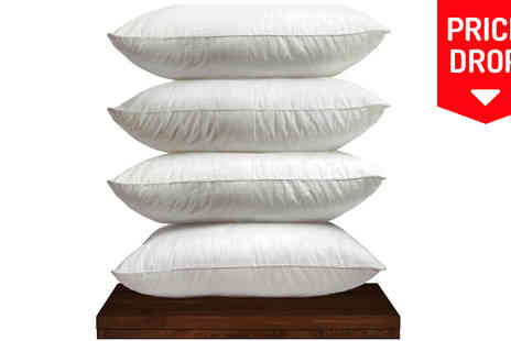 Rynz Collection - 2 or 4 Hotel Quality Duck Feather Pillows - Save 47%