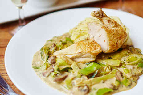 Cafe Rouge - Three Course Meal with Sparkling Wine for Two - Save 0%