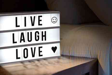 Groupon Goods Global GmbH - Globrite Cinematic Lightbox or Coloured Letters - Save 52%