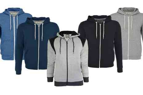 Groupon Goods Global GmbH - Mens Brave Soul Zip Through Hoodies - Save 0%