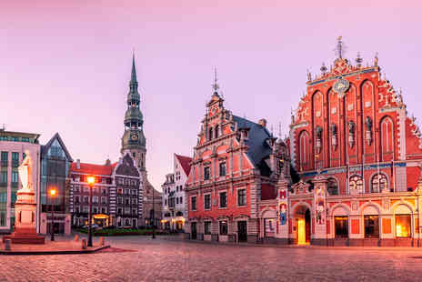 Dial4Travel - Four Star Three night Riga getaway with breakfast and flights - Save 26%