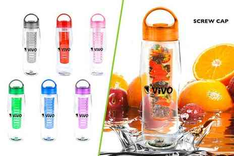 ViVo Technologies - 700ml fruit infusing water bottle select from seven colours - Save 78%