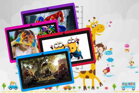 D2D - Kids 7 Inch quad core android tablet with IPS screen choose from four colours - Save 66%