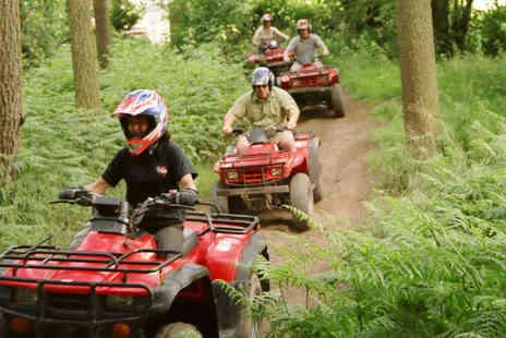 Heart of England - Two hour quad bike trekking and laser clay shooting experience for one person - Save 66%