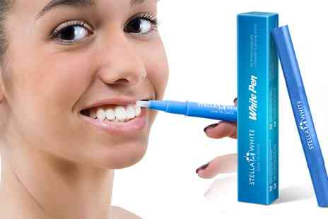 Groupon Goods Global GmbH - One, Two or Three Stella White Teeth Whitening Pens - Save 75%
