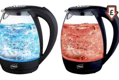 Groupon Goods Global GmbH - Neo Cordless Illuminated Glass Kettle - Save 70%