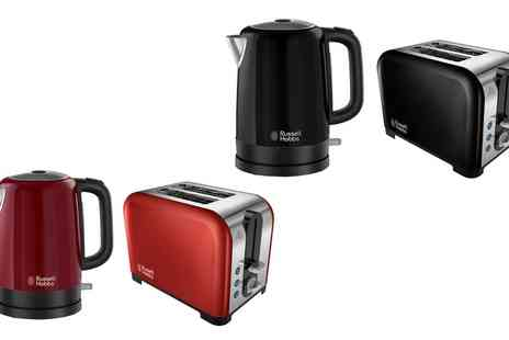 Groupon Goods Global GmbH - Russell Hobbs Canterbury Kettle and Toaster Set With Free Delivery - Save 60%