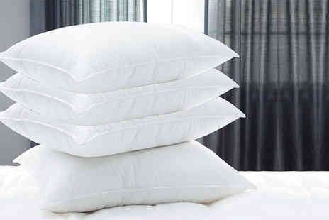 Diana Cowpe - Two hotel quality duck feather and down pillows - Save 88%