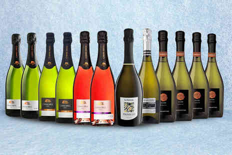 San Jamon - Case of 12 bottles of Cuvee, Cava and Prosecco - Save 53%