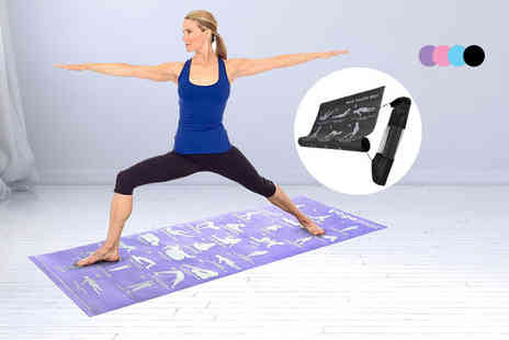 ViVo Technologies - 28 position guide yoga mat - Save 84%