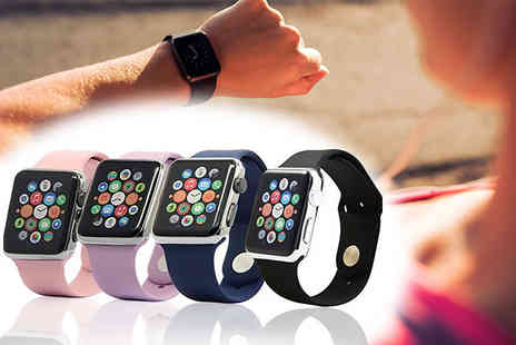 Glam Bazaar - Silicone Apple Watch band choose from four colours - Save 86%