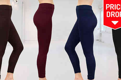 Nothing New 2 Wear - Ladies or Unisex Fleece Lined Leggings - Save 80%