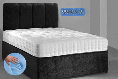Midnight Dreams - Single, double or king size luxury cool blue fusion memory foam spring mattress - Save 84%