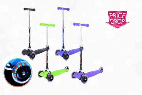 ViVo Technologies - LED three wheeled scooter choose from four colours - Save 80%