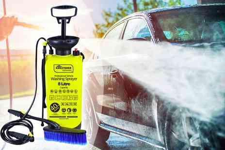 Groundlevel - 8 litre high pressure sprayer and washer - Save 70%