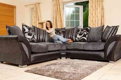 Groupon Goods Global GmbH - Farrow Fabric Corner Sofa Collection in Choice of Colour - Save 51%